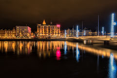 Véspera de Ano Novo na Suécia Foto de Stock Royalty Free