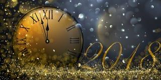 Véspera 2018 do ` s do ano novo Fotografia de Stock