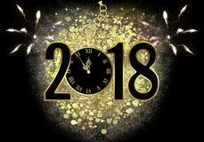 Véspera 2018 do ` s do ano novo Ilustração Stock