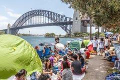 Véspera do ` s do ano novo em Sydney Harbour fotos de stock