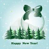 Vésperas e bola de ano novo Imagem de Stock Royalty Free