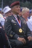 Vétéran Coréen-Américain à la cérémonie d'anniversaire de Guerre de Corée cinquantième, Washington, C C Photos stock