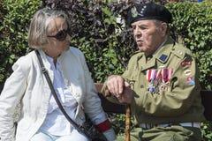 Vétéran polonais de WWII Photo stock
