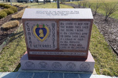 Vétérans blessés de combat du Michigan commémoratifs Photographie stock libre de droits