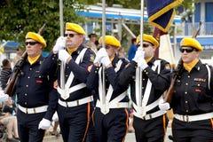 Vétérans de défilé des guerres étrangères (VFW) Photographie stock libre de droits