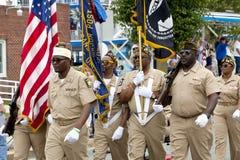 Vétérans de défilé des guerres étrangères (VFW) Images libres de droits