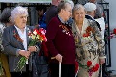 Vétérans de femmes de grande guerre patriotique Photo libre de droits