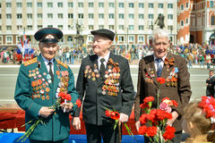 Vétérans de la deuxième guerre mondiale Images stock