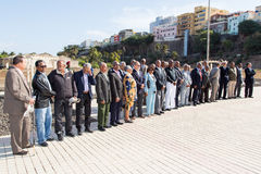 Vétérans de la lutte pour l'indépendance du Cap Vert Image libre de droits