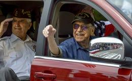 Vétérans de WWII dans le quatrième du défilé de juillet Photo libre de droits