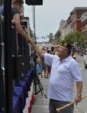 Vétérans mars de WWII dans le défilé Photo stock