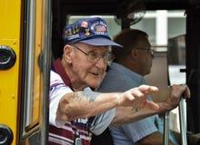 Vétérans mars de WWII dans le défilé Photo libre de droits