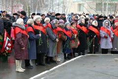 Vétérans russes de femmes de guerre Images stock