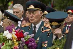 Vétérans ukrainiens du jour patriotique splendide de victoire de guerre Image stock