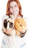 Vétérinaire et cobayes Images stock