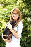 Vétérinaire féminin Photo stock
