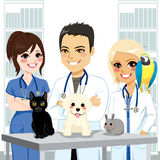 Vétérinaire Team Pets illustration stock