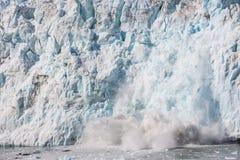 Vêlage de glace, Alaska Photos libres de droits