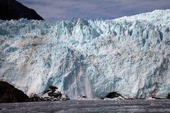 Vêlage de glacier de Holgate Photos libres de droits