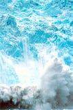 Vêlage de glacier de Holgate, parc national de l'Alaska, fjords de Kenai, nea Photographie stock