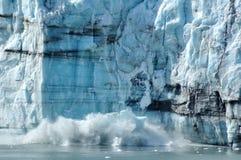 Vêlage, glacier de Margerie d'eau de marée, Alaska Photos libres de droits
