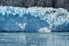 Vêlage, glacier de Margerie d'eau de marée, Alaska Images libres de droits
