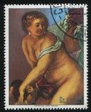 Vênus da pintura na forja de Vulcan por Rubens Fotografia de Stock