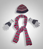 Vêtement de l'hiver Photos libres de droits