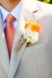 Vêtement de mariage de marié Photographie stock libre de droits