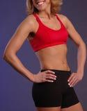 Vêtement femelle de forme physique Image stock