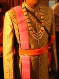 Vêtement indien de marié Images libres de droits