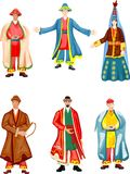 Vêtement kazakh traditionnel Photos stock