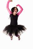 Vêtement s'usant de ballet de jeune femme caucasien Images libres de droits