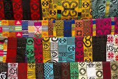 Vêtements africains de mode Photos libres de droits