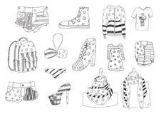 Vêtements américains Images libres de droits