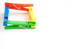 Vêtements-chevilles colorées 2 Photographie stock