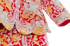 Vêtements chinois de mariage Image stock