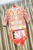 Vêtements chinois de mariage Photographie stock libre de droits