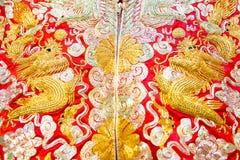Vêtements chinois de mariage Photo stock