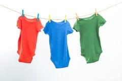 Vêtements colorés Photo libre de droits