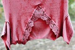 Vêtements congelés Frost sur des vêtements image libre de droits