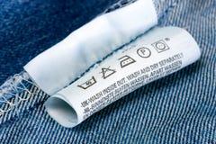 Vêtements d'étiquette Photographie stock libre de droits