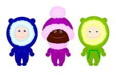 Vêtements d'hiver d'enfants d'enfants Photos libres de droits