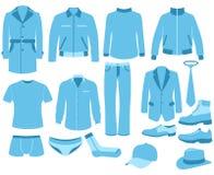 Vêtements d'homme réglés Photo libre de droits