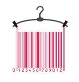 Vêtements dans le code barres Image libre de droits