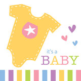 Vêtements de bébé pour la carte de voeux Photo libre de droits