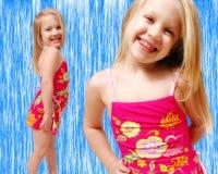 Vêtements de bain d'enfant en bas âge Image libre de droits
