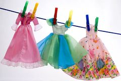Vêtements de couleurs Photographie stock