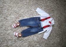Vêtements de garçons Image libre de droits