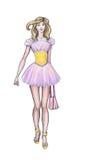 Vêtements de haute couture de croquis, couturier Photos stock